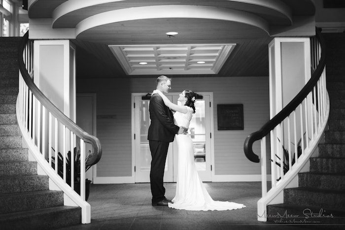 Bride & Groom at Staircase Thumbnail