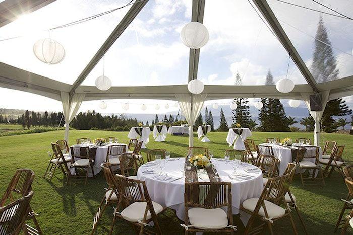 Wedding Reception on Golf Course Lawn Thumbnail