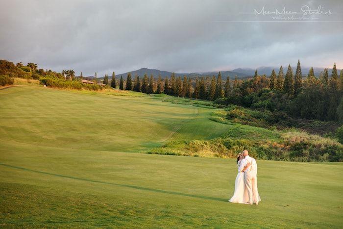 Bride on Golf Course Thumbnail