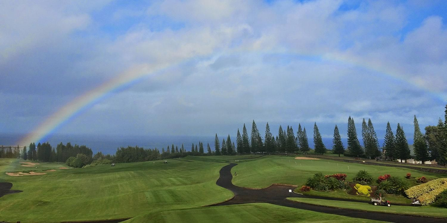 Rainbow over the Golf Course
